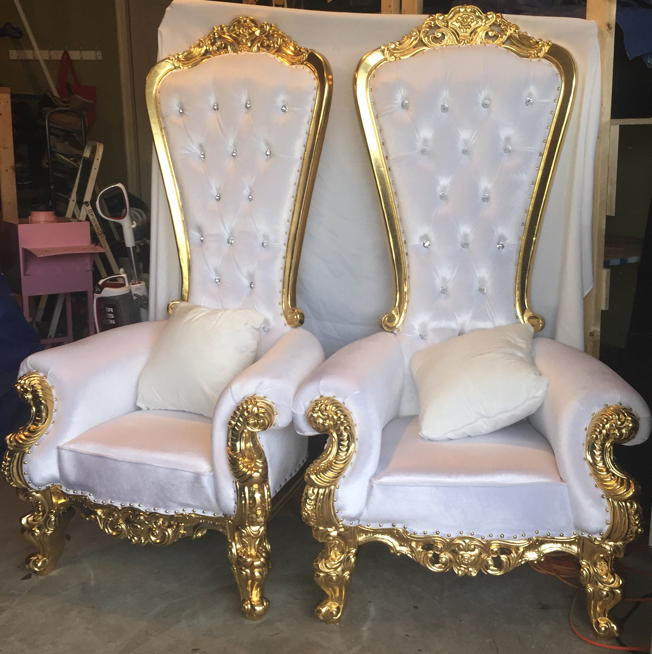 King and queen chairs & HMS Party Rental LLC Chairs